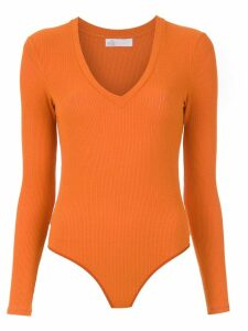 Nk knit bodysuit - ORANGE