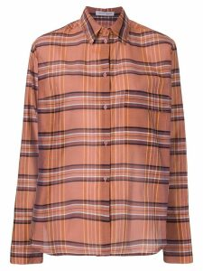 Christian Wijnants Talma plaid shirt - ORANGE