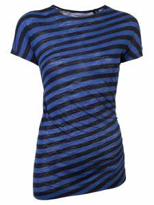 Proenza Schouler Stripe Twisted T-Shirt - Blue