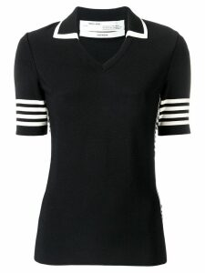 Off-White tennis knitted T-shirt - Black