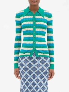 Gabriela Hearst - Browning Ribbed Cashmere-blend Sweater - Womens - Burgundy Multi