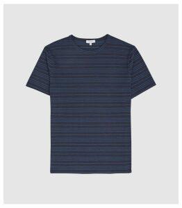 Reiss Darras - Striped Crew Neck T-shirt in Blue, Mens, Size XXL