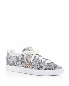 Puma Women's Clyde Ao Snake-Embossed Low-Top Sneakers