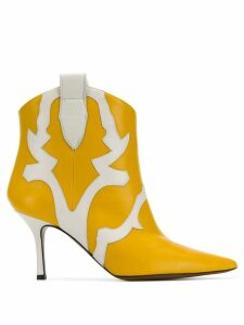 Marc Ellis western ankle boots - Yellow