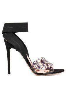 Gianvito Rossi leopard print sandals - Black
