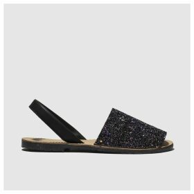 Schuh Black & Purple Barcelona Sandals