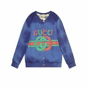 Cotton sweatshirt with Gucci logo
