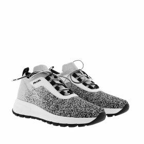 Prada Sneakers - Prax 01 Knit Sneakers Silver/Black - silver - Sneakers for ladies
