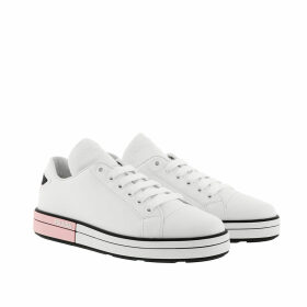 Prada Sneakers - Badge Sneakers Calf Leather White - white - Sneakers for ladies