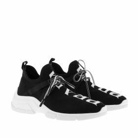 Prada Sneakers - Knit Sneakers Black/White - black - Sneakers for ladies