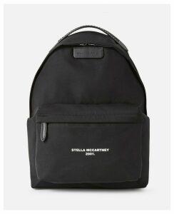 Stella McCartney Black Falabella Logo Go Backpack, Women's, Size OneSize