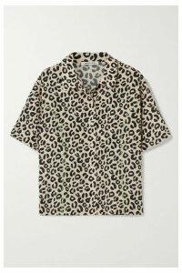 Sandy Liang - Imo Leopard-print Crepe De Chine Shirt - Leopard print