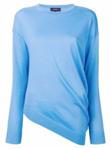 Theory asymmetric hem jumper - Blue