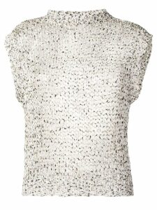 Roberto Collina open knit tank top - NEUTRALS