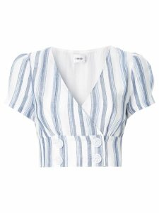 Suboo Shoreline striped crop top - White
