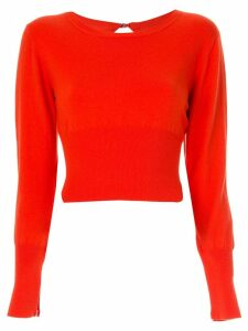 Dion Lee lingerie hook sweater - Orange