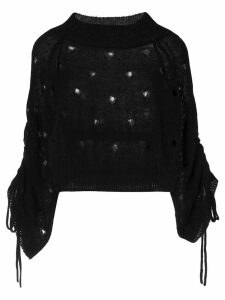 Taylor Open Façade sweater - Black