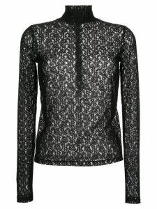 CK Calvin Klein longsleeved lace top - Black