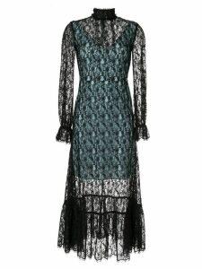 CK Calvin Klein sheer lace dress - Black