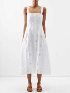 Tibi - Point-collar Cotton-sateen Top - Womens - Blue
