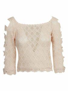 Alberta Ferretti Knitted Blouse