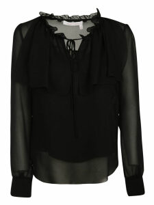 See by Chloé Flouncy Neck Tie Blouse