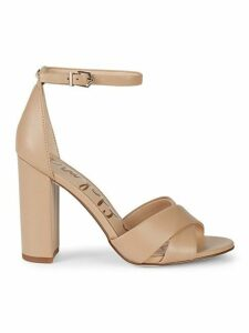 Yancy Crossover Strap Suede Sandals