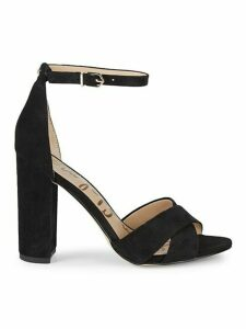 Yancy Crossover Strap Suede Sandals