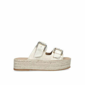 Carvela Kleverer - Metallic Gold Flatform Sliders