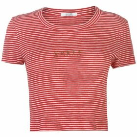 Guess Navy Crop T Shirt - Red/Wht S598
