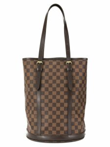 Louis Vuitton pre-owned GM Damier bucket tote - Brown