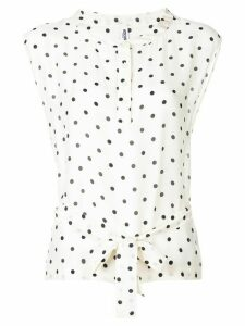 Moschino Pre-Owned 2000's spotted print blouse - NEUTRALS
