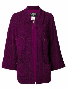 Chanel Pre-Owned 1998's knitted shift jacket - PURPLE