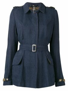 Gianfranco Ferré Pre-Owned 2000's belted jacket - Blue