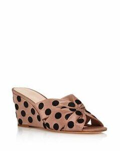 Loeffler Randall Women's Sonya Polkadot Wedge Sandals