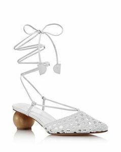 Dondoks Women's Woven Leather Ball-Heel Mules