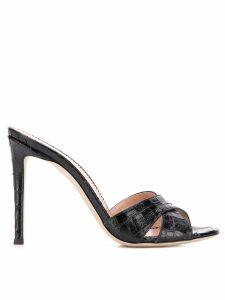 Giuseppe Zanotti crocodile embossed sandals - Black
