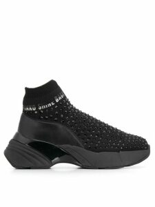 Pinko studded sock sneakers - Black