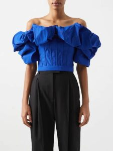 Vita Kin - Gypsy Queen Rose Embroidered Linen Dress - Womens - Black Multi