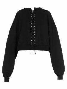 Ben Taverniti Unravel Project Terry Lace Up Sweatshirt