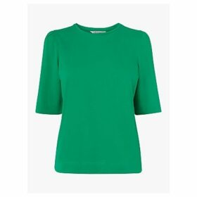 L.K.Bennett Saigon Ruched Sleeve T-Shirt