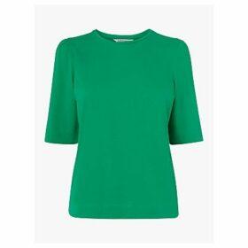 L.K.Bennett Saigon Ruched Sleeve Jersey T-Shirt