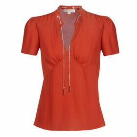 MICHAEL Michael Kors  GROMMET VNK CHAIN TOP  women's Blouse in Red