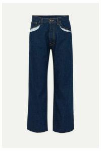 Maison Margiela - Cutout High-rise Straight-leg Jeans - Blue