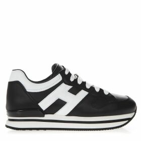 Hogan Black Sneakers H222 In Leather