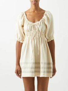 Mes Demoiselles - Bretonne Striped Cotton Blouse - Womens - Blue Stripe