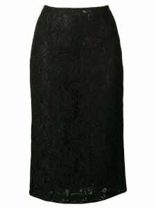 Brognano black lace skirt