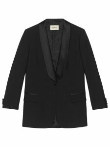 Gucci Jacket with embroidered patch - Black