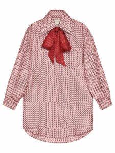 Gucci Silk top with stirrups print - PINK