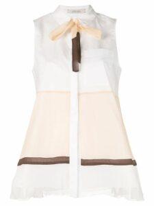 Dorothee Schumacher Power sleeveless shirt - White